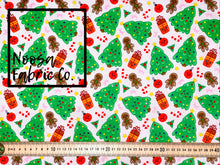 Cupid Christmas Woven Digital Print Fabric