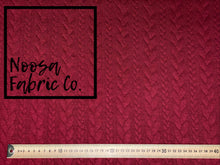 Maroon Jacquard Cable Knit