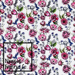 Nikki SMALL SCALE Woven Digital Print Fabric