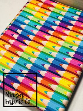 Anna Pencils Rainbow Fabric