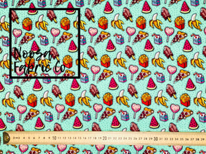 Fifi 'Green' SMALL SCALE Woven Digital Print Fabric
