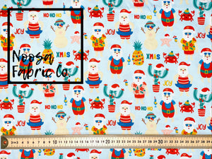 Theodore Christmas Woven Digital Print Fabric