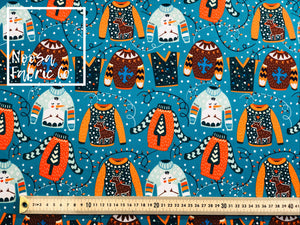 Donner Christmas Woven Digital Print Fabric