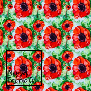 Poppy Design 4 Woven Digital Print Fabric