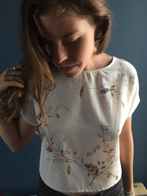 Women's hand painted blouse