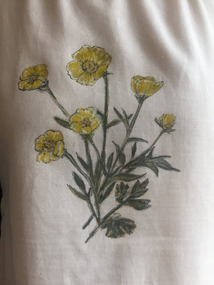 Hand painted yellow buttercup blouse