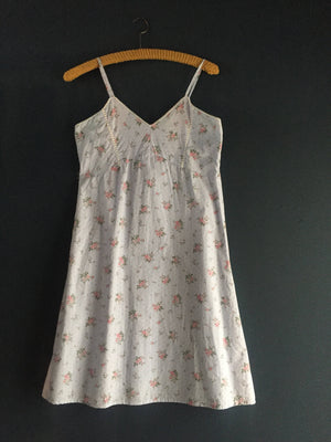 Women's blue Cotton print Nightgown