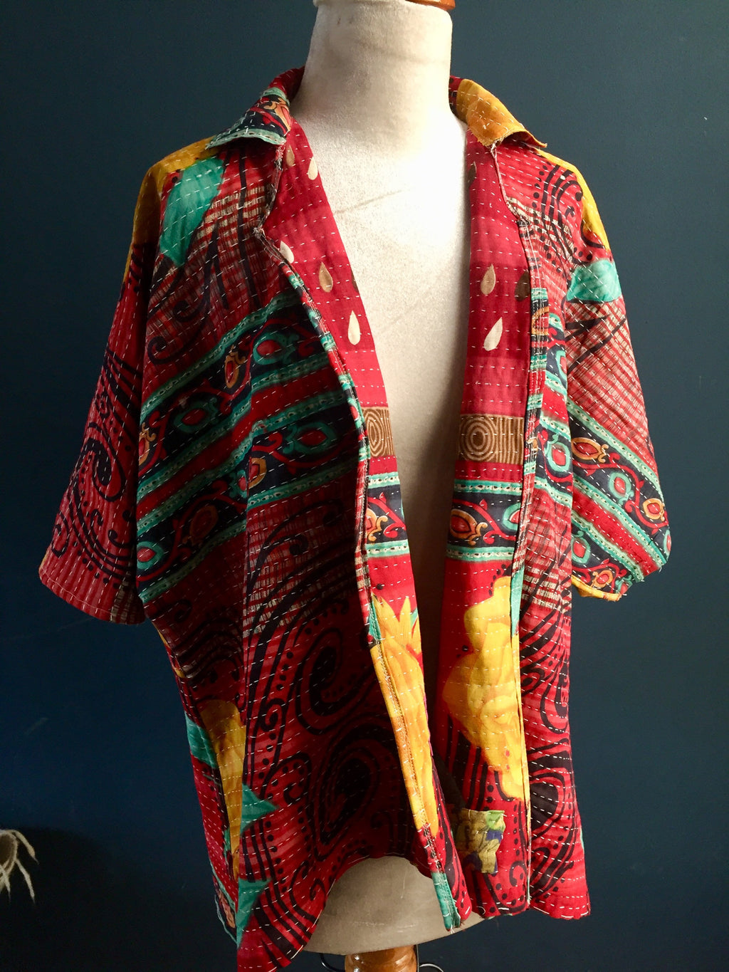 Women's Jacket | made from Old Vintage Kantha Quilt