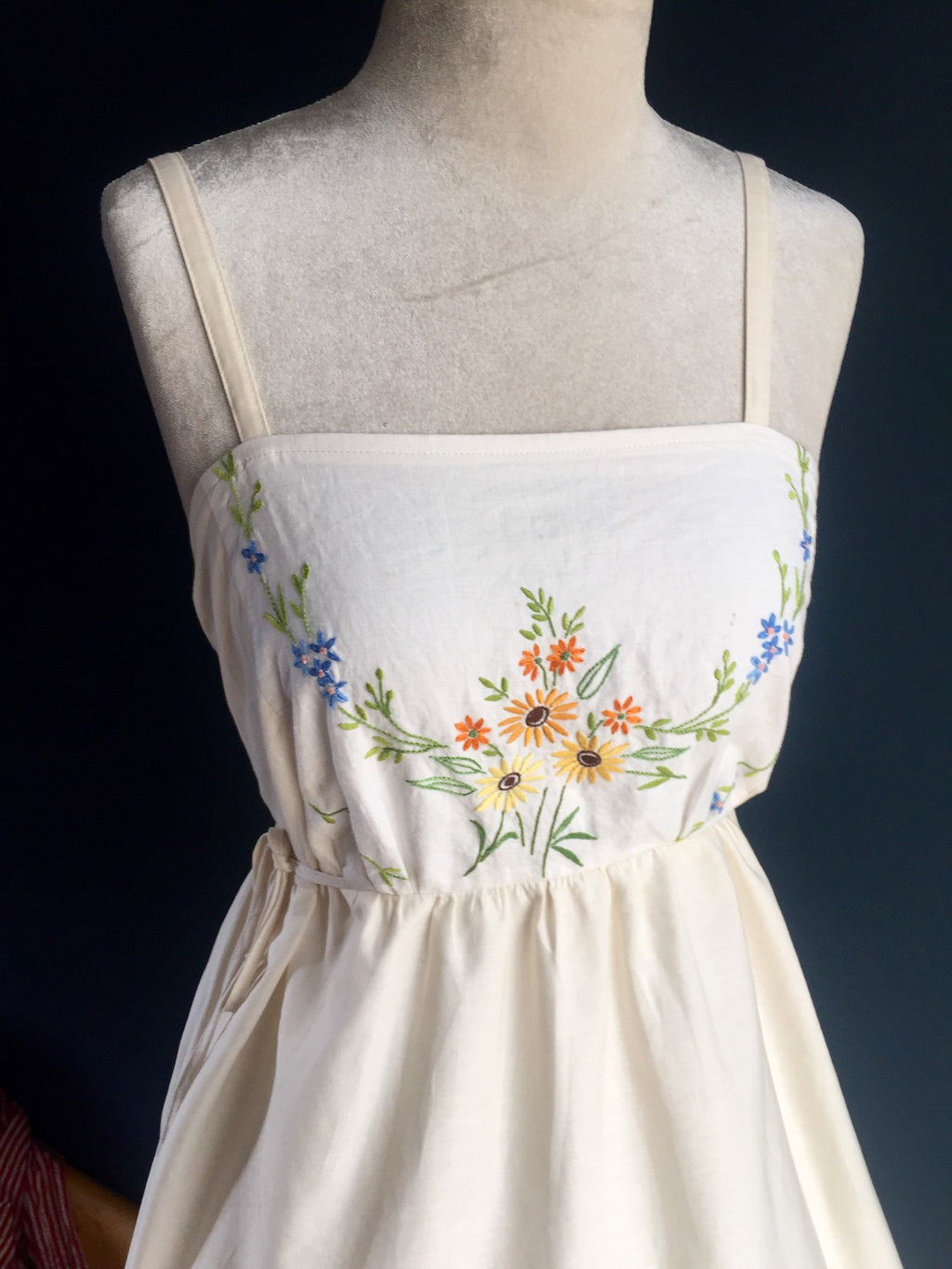 Wildflower embroidered Pinafor Dress