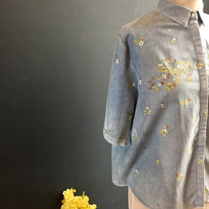 Hand painted wildflowers | women's blouse