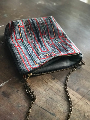 Handbag made from H'mong tribal textile