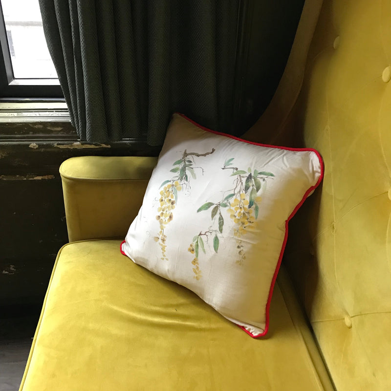 Silk Painted Wisteria Cushion cover