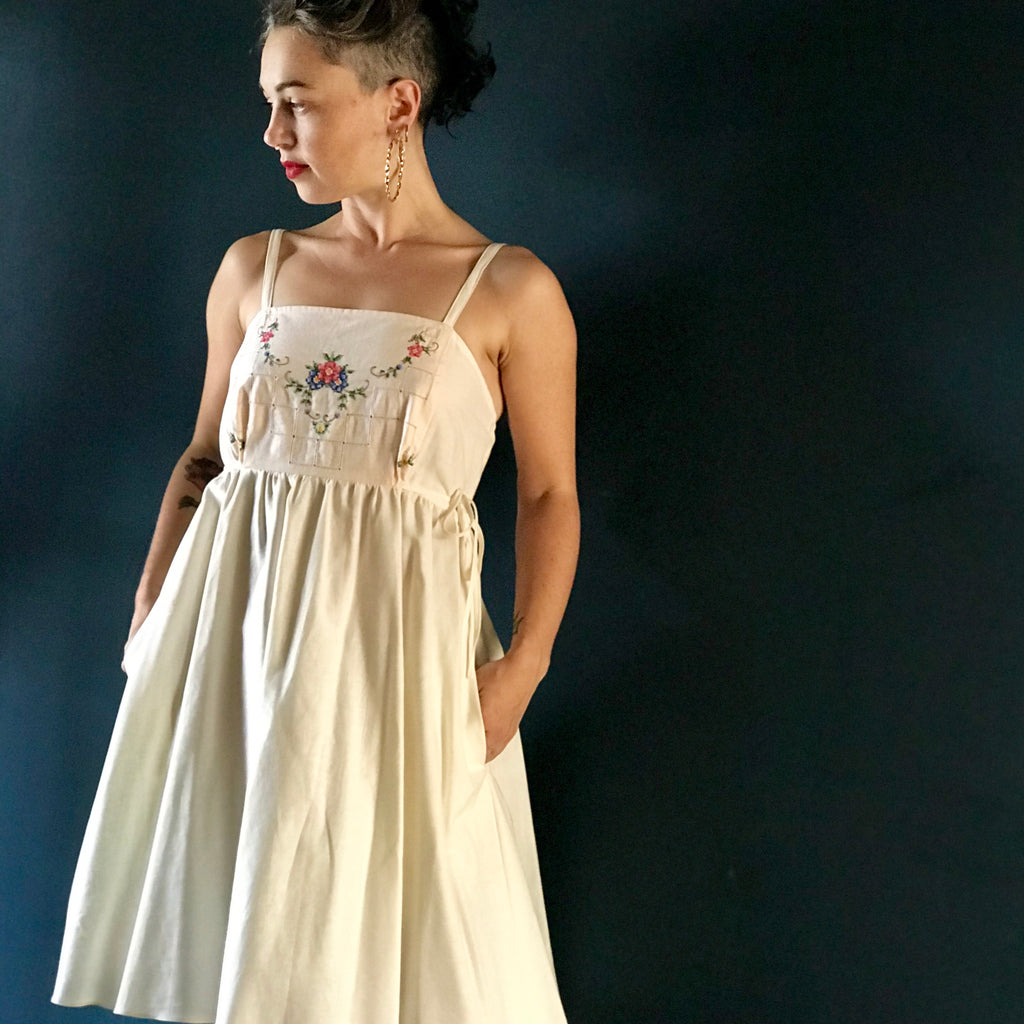 Pinafore Dress | exquisite embroidered cloth