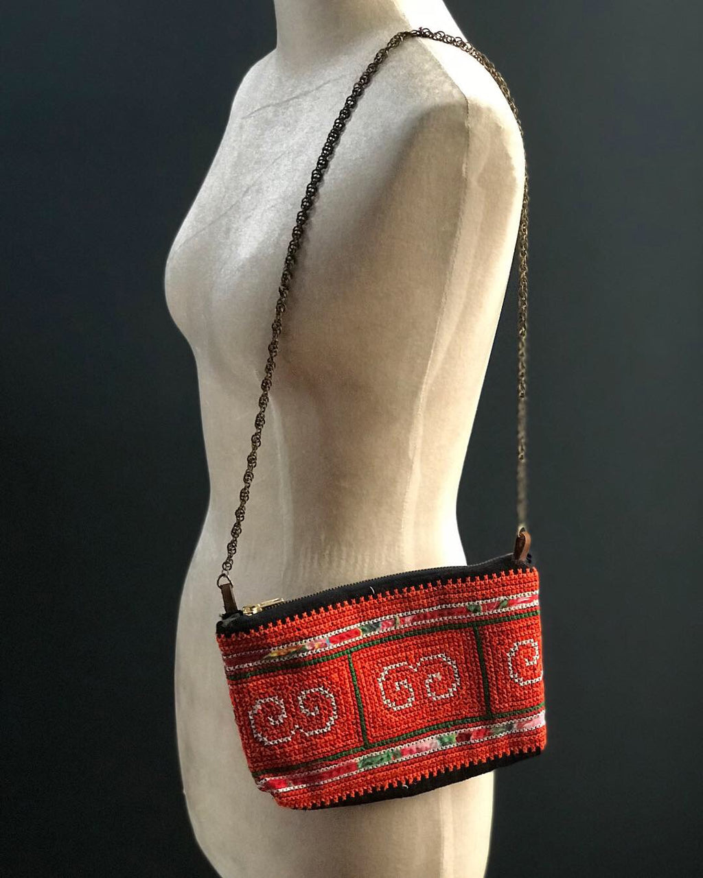 Handbag made from H'mong traditional textile