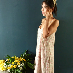 Women's Nightgown  | pink floral print