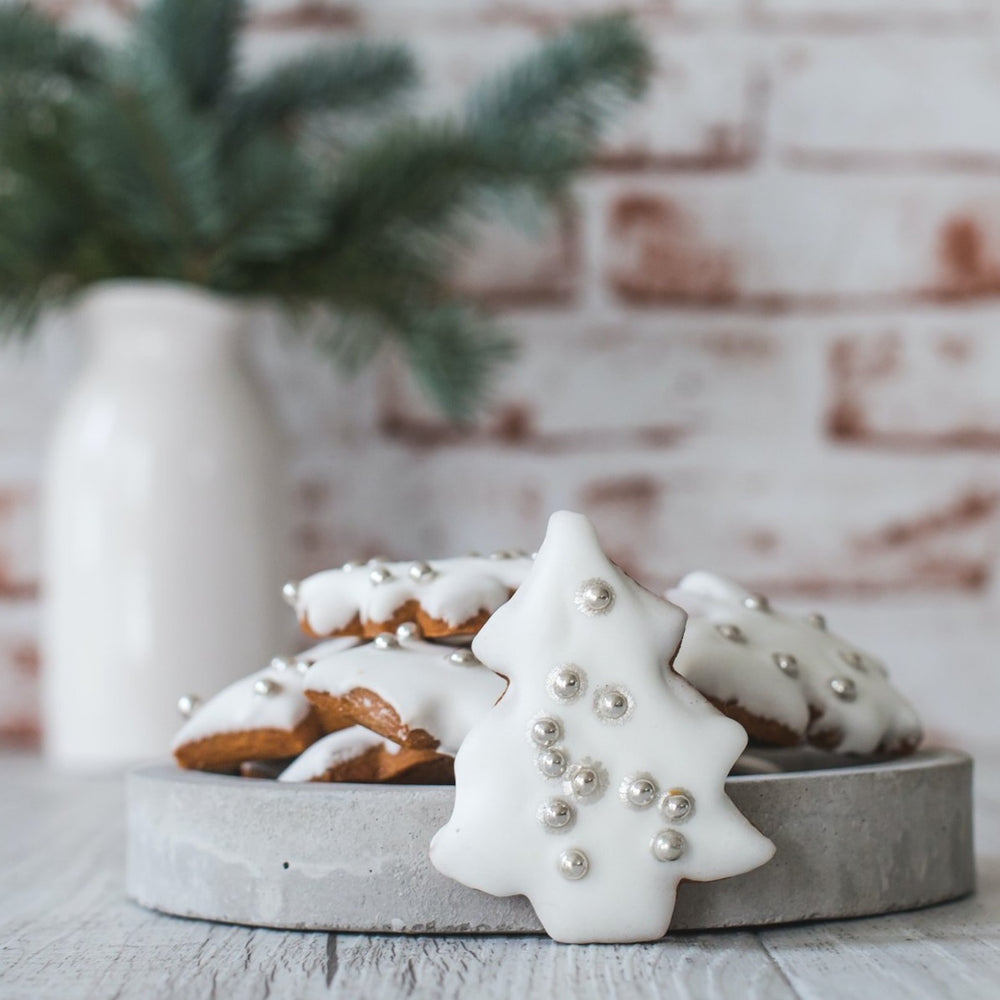 Gingerbread Christmas Trees – White - Phillippas Bakery