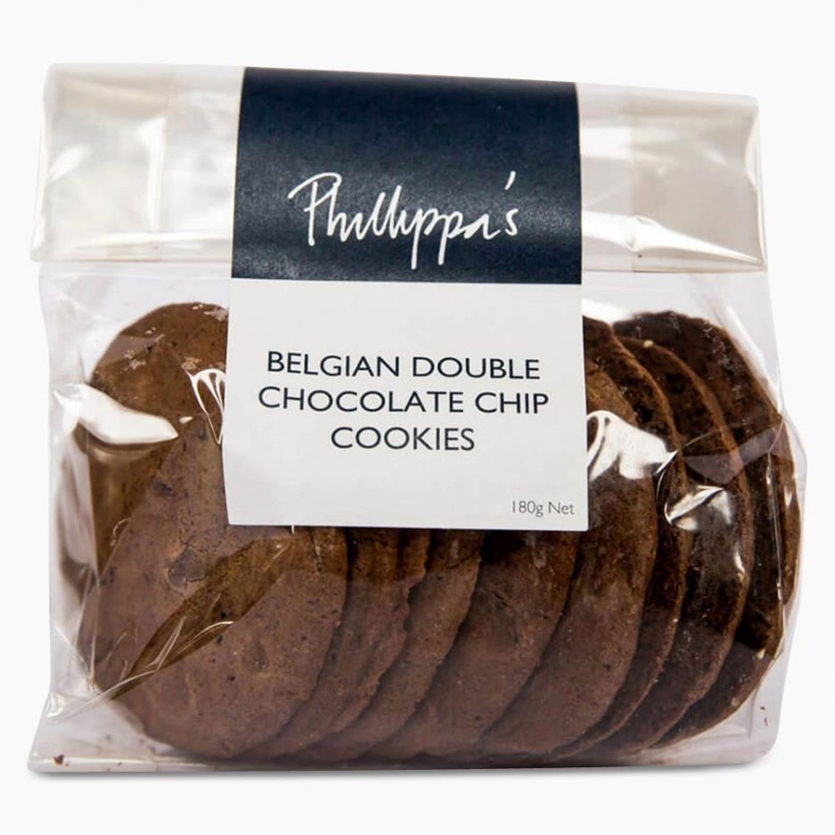 Belgian Double Chocolate Chip Cookies - Phillippas Bakery