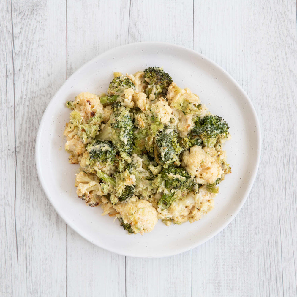 Cauliflower & Broccoli Gratin (V) - avail. from 2/10