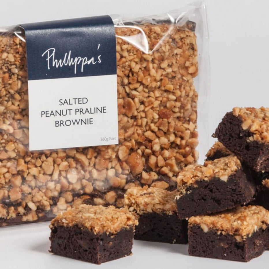 Salted Peanut Praline Brownie - Phillippas Bakery