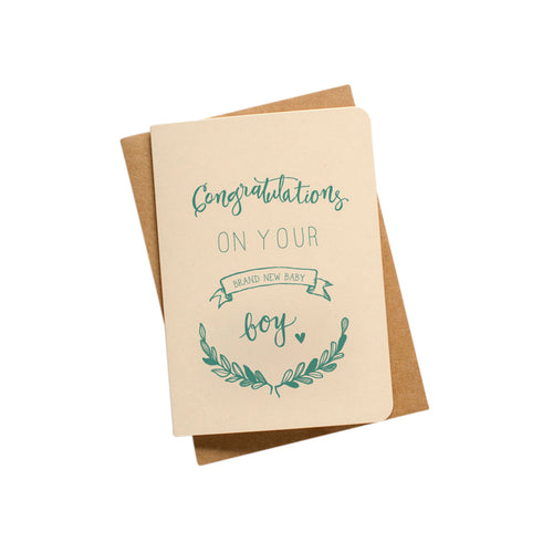 Congratulations On Your Brand New Baby Boy Card