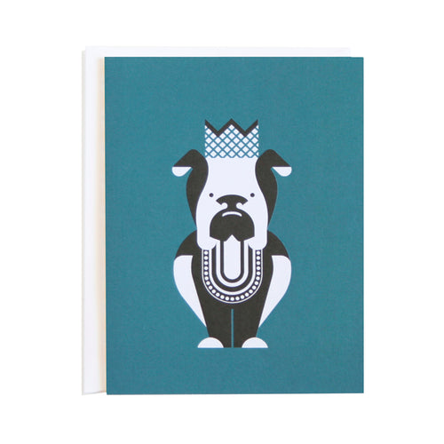 Bulldog Party Animals Card