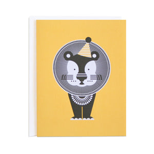 Lion Party Animals Card