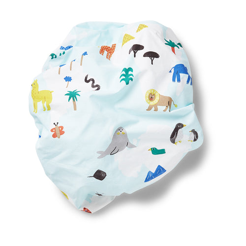 Fitted Cot Sheet - World Map