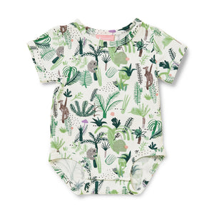 Short Sleeve Bodysuit - Fern Gully