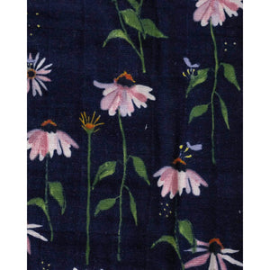 Dark Coneflower - Cotton Muslin Quilt - Little Unicorn
