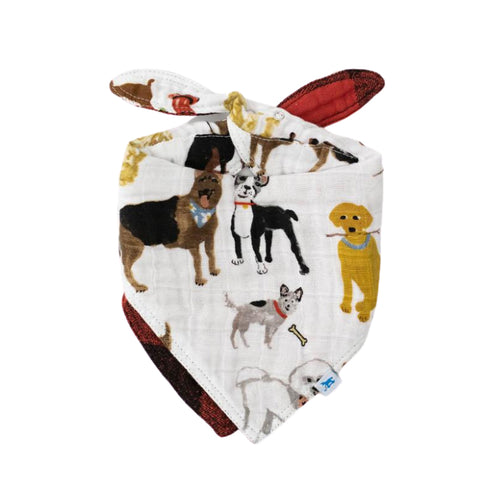 Woof - Reversible Muslin Bandana Bib - Little Unicorn