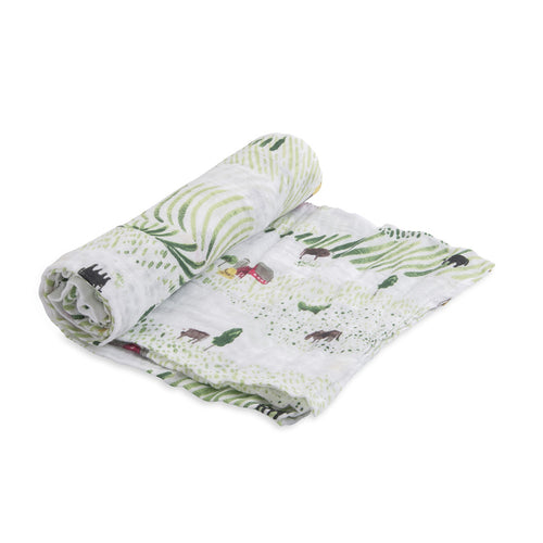 Rolling Hills - Cotton Muslin Swaddle - Little Unicorn