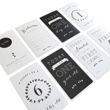 Load image into Gallery viewer, Baby Vine Milestone Cards - Black & White