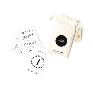 Baby Vine Milestone Cards - Black & White