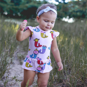 Little Miss Mermaids Ginger Frill Romper