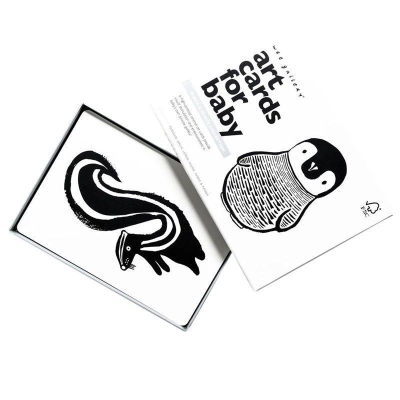 Black And White Art Cards