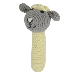 Little Lamb Crochet Rattle
