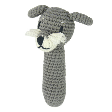 Schnitz the Schnauzer Rattle
