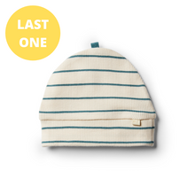 Load image into Gallery viewer, LAST ONE SIZE XXS (Premmie) Organic Stripe Beanie - Jungle Green