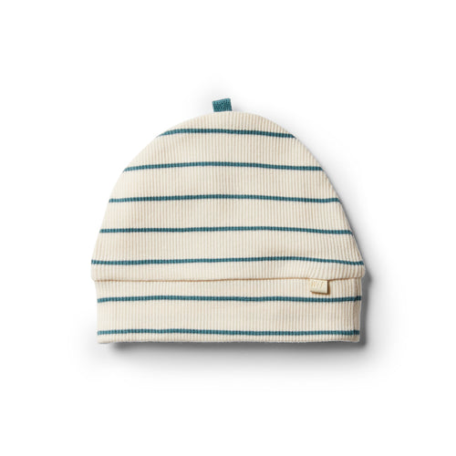 Organic Stripe Beanie - Jungle Green