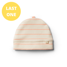 Load image into Gallery viewer, Organic Stripe Beanie - Peach Pearl