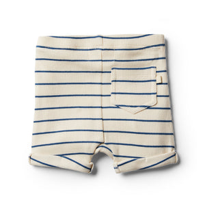 Organic Stripe Short - Deep Blue