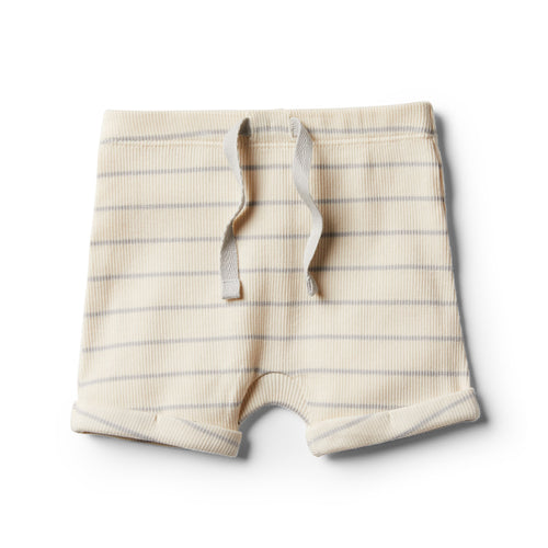 Organic Stripe Short - Glacier Grey