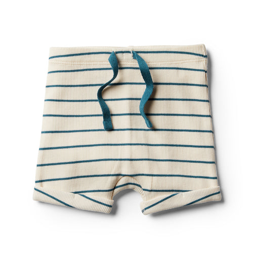Organic Stripe Short - Jungle Green