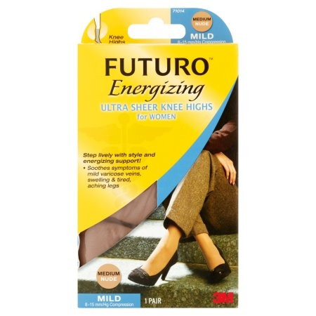 Futuro Ultra Sheer Knee Highs Hose for Women (Sizes M - L) 2-Pack