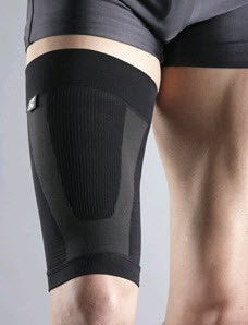 Thigh COMPRESSION SLEEVE POWER SYSTEM (COLOR: BLACK)