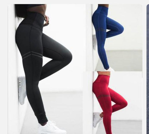 Pants Women Yoga Leggings Fitness Pants Gym Clothing Sports Wear Thigh Stripe Printing
