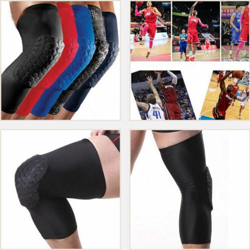 Basketball Leg Sleeve Protect Guard Running Knee Protector Gear Long Sleeves