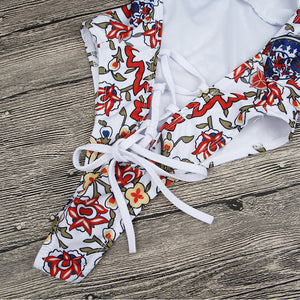 Maillot une pièce Withe Floral