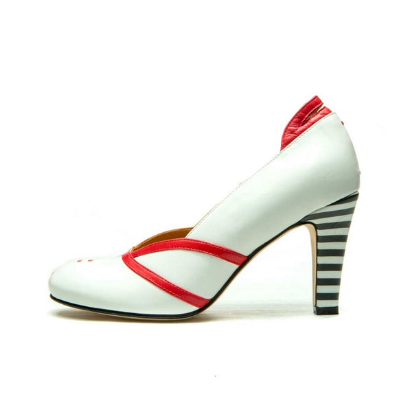 ESCARPINS BLANC EN CUIR CITY PUMP PANEVA
