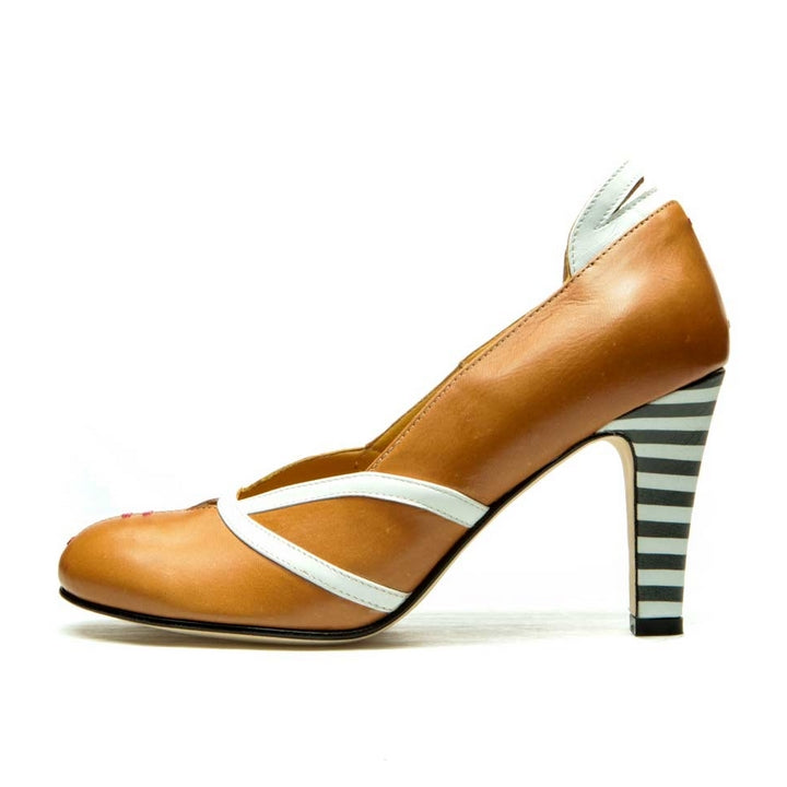 ESCARPINS MARRONS EN CUIR CITY PUMP PANEVA
